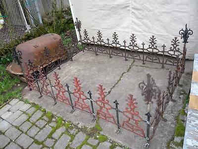 Antique Iron Roof Cresting Widows Walk 5'x7' Rectangle 20 Sections 4 Corner Post