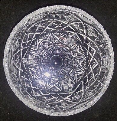 Vintage Imperlux 24% Lead Crystal 3 Footed Bowl Made in Western Germany