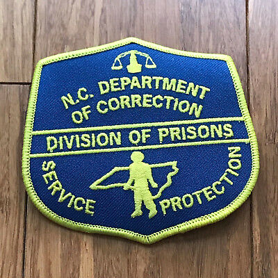 NEW North Carolina Department of Corrections Division of Prisons Shoulder Patch