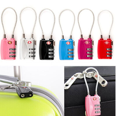 TSA 719 Resettable 3 Digit Combination Travel Luggage Suitcase Lock Padlock Gift