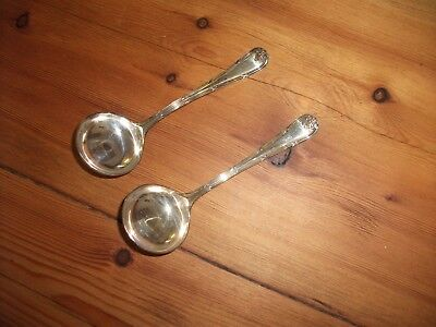"Matching Pair Vintage Silver Plate Sauce Gravy Ladle x 2 Beresford EP 5"" 12.5 cm"