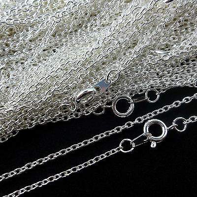 Top Quality Silver Plated Necklace Trace Chain 16 18 24 Inch