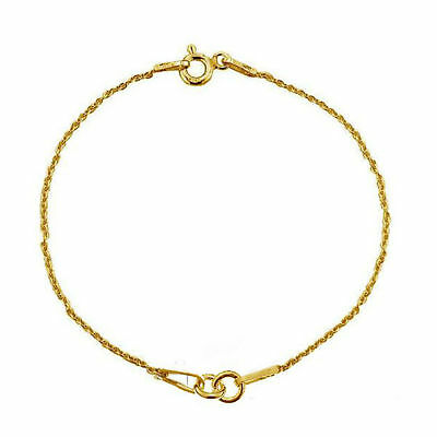 24K Gold Plated Sterling Silver Bracelet Chain 15cm 1PC 3PC