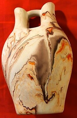 "Vintage Nemadji Pottery Vase Wedding Ceremonial 10 1/2"" Tall X 5 3/4"" Wide"