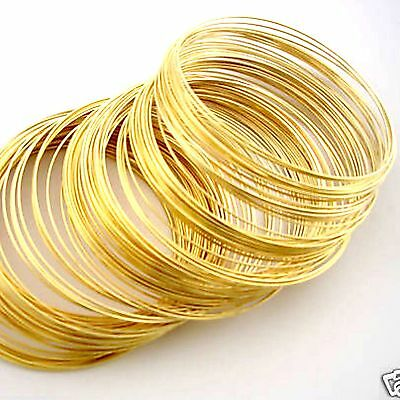 200 Coils Gold Plated Memory Wire Bracelet Dia 55mm Jewellery Making
