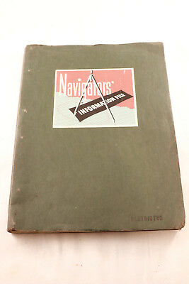 Original 1944 Wwii Us Army Air Corp Navigator's Information File