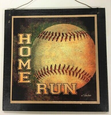 HOME RUN BASEBALL Boys Sports Bedroom Wood Wooden Wall Art ...