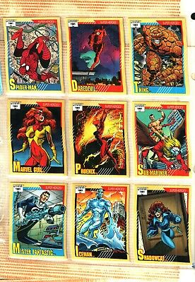 1991 Impel Marvel Universe Series 2 Set 162 Cards Near Mint IN ULTRA PRO SHEETS