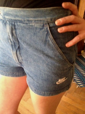 TRUE VINTAGE ORIGINAL NIKE 80s JEANS SHORTS_RAR! _ BERLIN_BLOGGER_Gr.S/XS