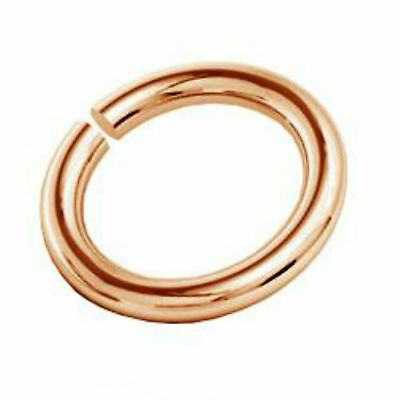 10PC 18K Rose Gold Plated Jump Ring Sterling Silver 3mm Open Jump Rings Findings