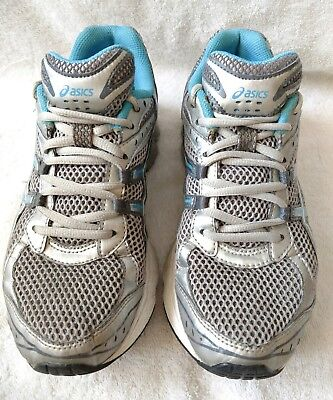0951a4ded385 Women s Asics Gel-Turbulent Cross Training Athletic Shoes Size 7.5 Silver  Guc