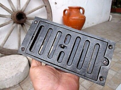Antique Or Vintage Cast Iron Old Cover Grate Regulable Ventilator Grill Wall