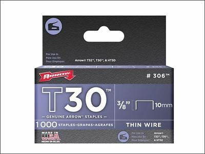 Arrow T30 Staples 306IP 10mm (3/8in) Box 5000