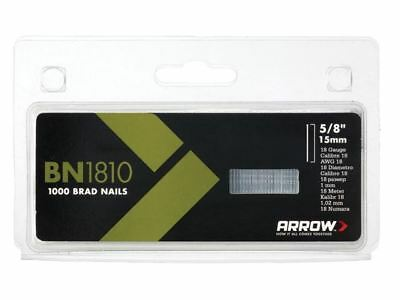 Arrow BN1810 Brad Nails 15mm Pack 1000