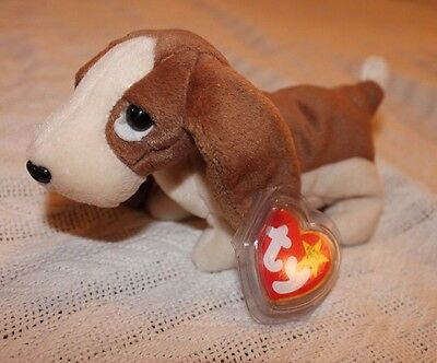 TY Beanie Baby TRACKER Dog w/ ERROR **RARE**RETIRED** MWT Condition