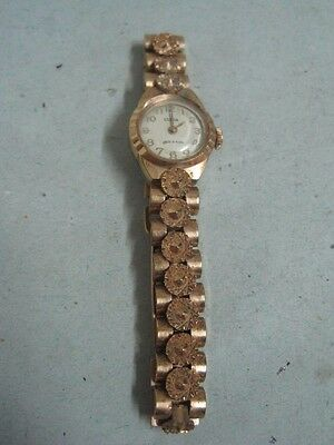 Antique woman watch Wristwatches Clyda ancre 15 rubis gold plaque 18k