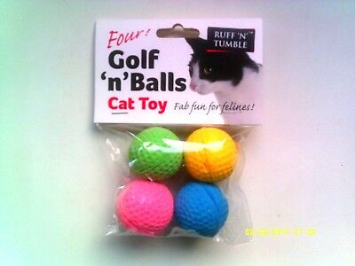 Ruff N Tumble Golf N Balls Cat Toy ( 4 Soft Foam Balls ) - New