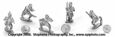 Old Glory Crusaders & Saracens 25mm First Crusade - Sudanese Spearmen Pack MINT