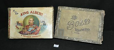 ThriftCHI ~ Two Vintage Cigar Boxes Bobrow Bros. Bold & King Albert Swisher