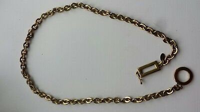 """Vintage Brass Gold-Tone Chain Belt 34"""" Long Made in Korea Size Small"""