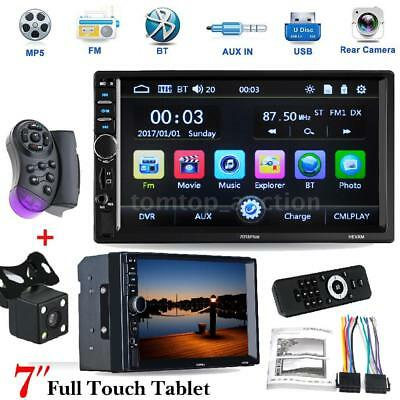 7'' Double 2DIN Touch Screen Car Audio Stereo MP5 Radio player +Rear View Camera