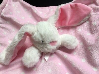 Blankets & Beyond Light Pink & White Baby Nunu Security Bunny Lovie Lovey Easter