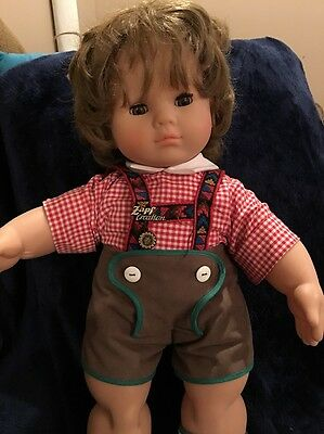 1989 Zapf 50 cm Doll ~ Big Brown Eyes Pink Outfit With Cap  #5018  ~W Germany