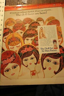 vintage magazine ad advertising print 1967 THE DOLL SET BY MAX FACTOR