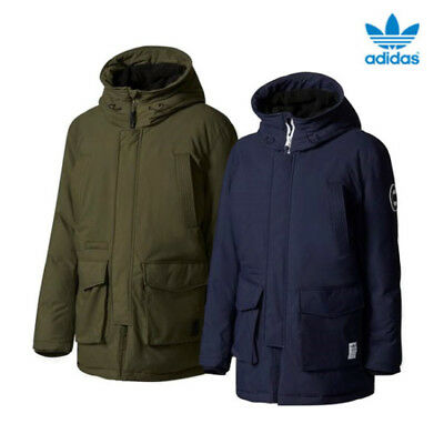 8ad47a4579b4 ADIDAS ORIGINALS HEAVY Down Parka Jacket Men s Padded Winter Warmer ...
