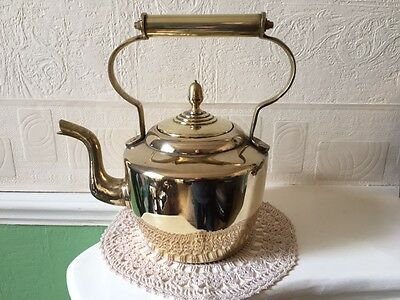 Antique Brass Teapot Large Heavy Gauge Circa 1880