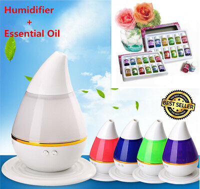 LED Essential Oil Diffuser Aroma Ultrasonic Humidifier Aromatherapy Air Purifier