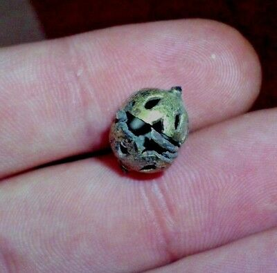 Ancient Celtic Druids Gilded Bronze Pendant Amulet - 500/400 Bc - Rare