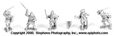 Old Glory Battles of Crecy & Poitiers 25mm Dismounted German Knights Pack MINT