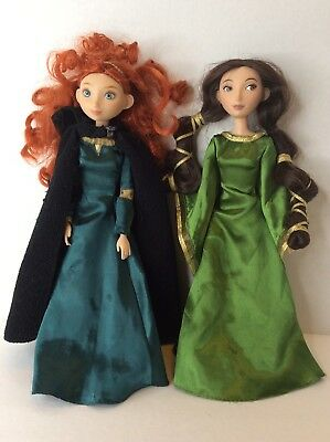 Disney Store Brave Merida Queen Elinor Mom Dolls Lot Clothes Articulated Jointed