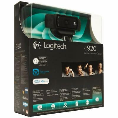 Logitech HD Pro Webcam C920 1080p Widescreen Video Calling Recording Windows Mac
