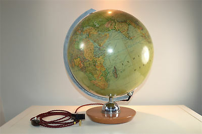 Very cool large vintage illuminated world globe light lamp map circa.1950-60