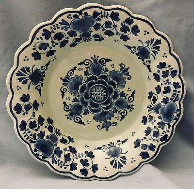 Vintage 1936 Delft Blue & White  Bowl   * Hand Painted & Signed & Numbered