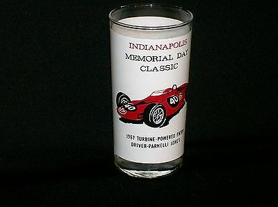 Vintage 1967 Indianapolis Indy 500 Memorial Day Race Parnelli Jones STP Glass