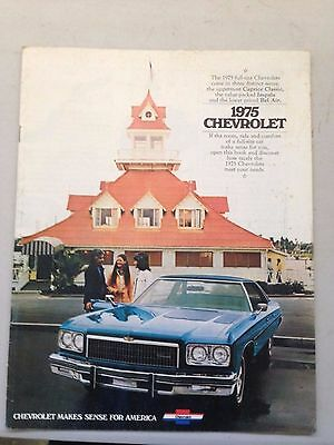 1975 Chevy Chevrolet Caprice Convertible Impala Original Sales Ordering Catalog