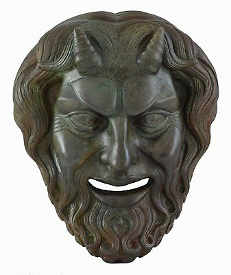 Pan Mask with bronze color effect - Dionysos God of Wild - Ancient Greece Panas