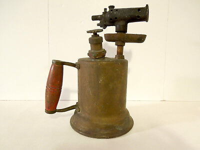 Antique Vintage Old Brass Blow Torch - Otto Bernz Co. - Number 87 - Steampunk