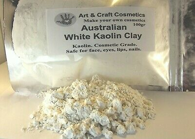 White Clay Australian Kaolin Cosmetic Grade For Natural Makeup Facials Skincare