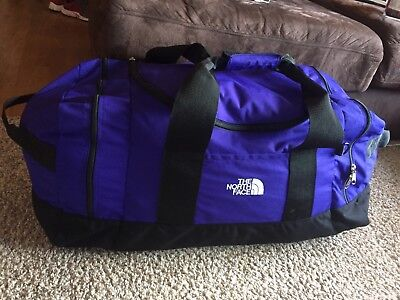 VTG THE NORTH FACE  Canvas Duffel Bag Travel Carry-On Weekend Bag HUGE