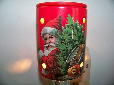 Santa Claus Night Light with Warming Tray for Wax or Oils Christmas eve. Holiday