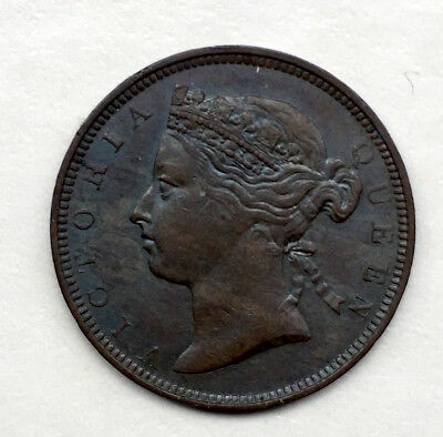 Mauritius 2 Cents  1883 High Grade