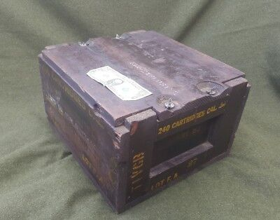 WW2 wooden ammo box for dummy m 2 .50 crate 50 world war 2 browning FA ma deuce