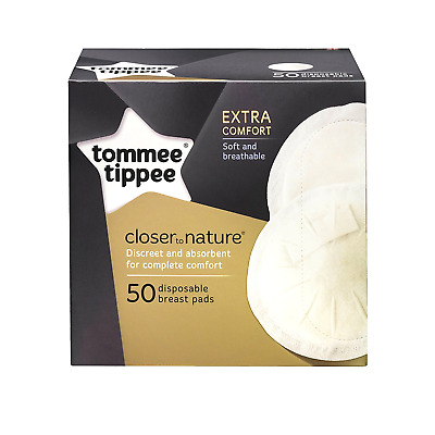Disposable Breast Pads, 50 Pads Extra Comfort Tommee Tippee Closer to Nature