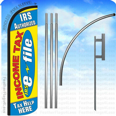 IRS AUTHORIZED INCOME TAX E-FILE TAX HELP  - WINDLESS Swooper Flag 15' KIT yz