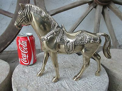 Antique or Vintage Solid Brass 2500 Grams. Large Size Lovely Statue Figure Horse