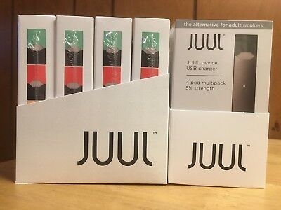 JUUL STARTER KIT..DEVICE. CHARGER  with  4 PODS...SAME DAY and FREE  SHIPPING..